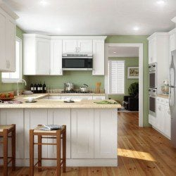 Forevermark Ice White Shaker Kitchen