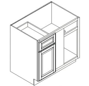GHI Arcadia Linen Base Blind Corner Cabinet 42W X 34-1/2H