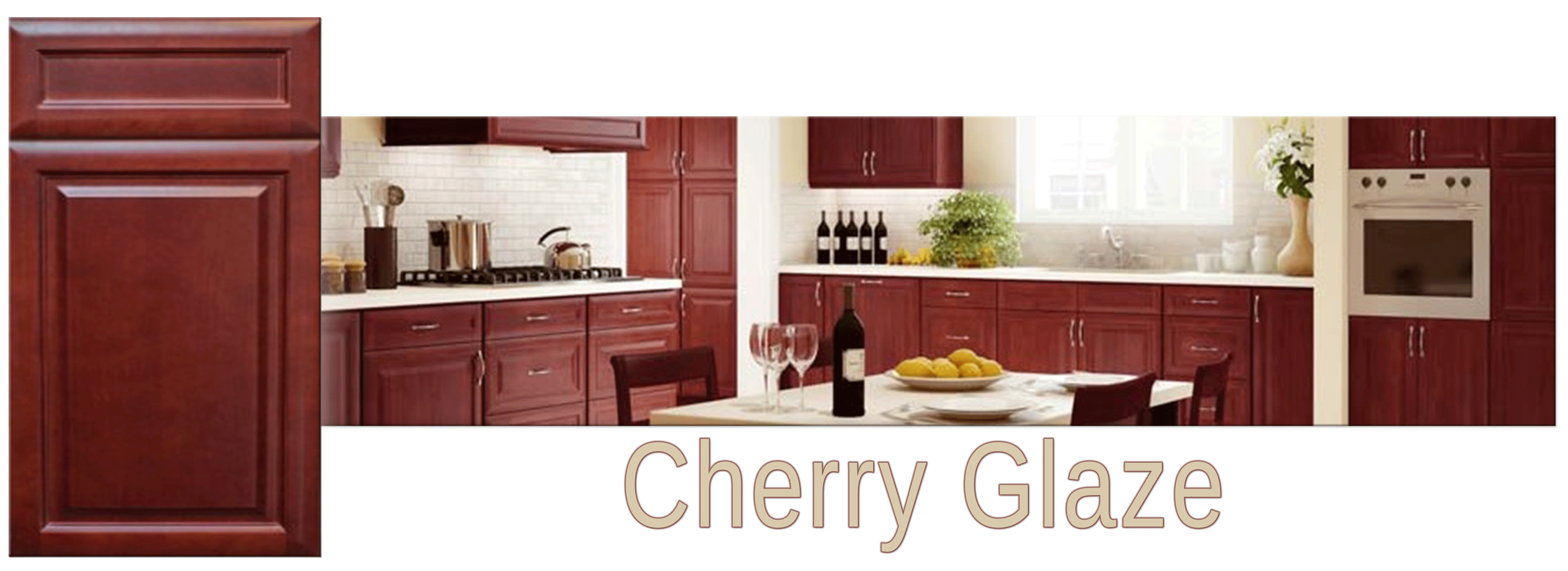 A Classic Look And The Ever Popular Cherry Color Create An Eye Catching  Combination. Forevermark Cherry Glaze Features Raised Main Panels And  Recessed ...
