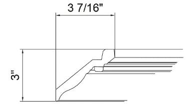 GHI Brandywine Crown Molding 3-7/16W X 3H