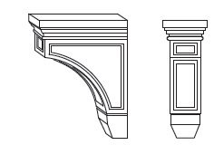 Forevermark Espresso Corbels & Appliques 3W X 6H