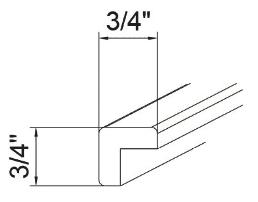 Feather Lodge Island Java Shaker Corner Molding 3/4W X 3/4H
