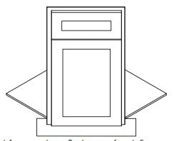Cabinets, Forevermark Uptown White Sink Front BDCF36K-FL