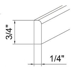 Feather Lodge Island Java Shaker Corner Molding 1/4W X 3/4H