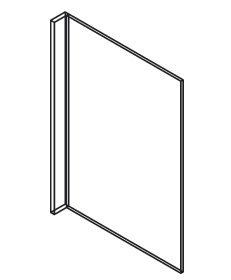 Forevermark Cinnamon Glaze Refrigerator End Panel 24W X 84H