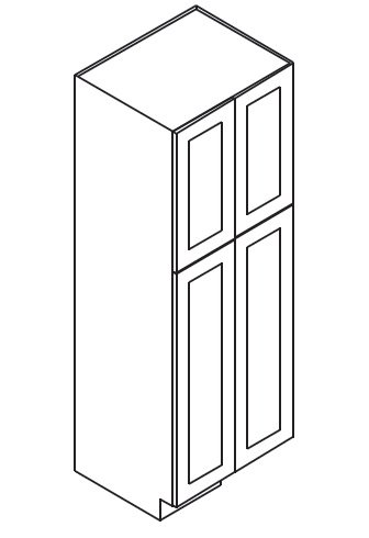 Forevermark Midtown Grey Wall Pantry Cabinet 24w X 96h