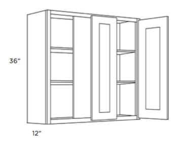 Cabinets, Cubitac Milan Shale Blind-Wall-Cabinet-36-BLW39_4236