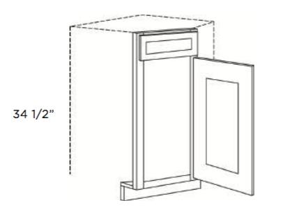 Cabinets, Cubitac Oxford Latte Corner-Sink-Front-CSF36