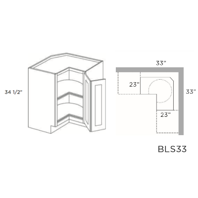 Cubitac Dover Cafe Lazy Susan Cabinet 33W X 34-1/2H X 33D