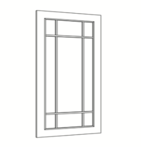 Cabinets, Cubitac Sofia Pewter Mullion-9-Light-Door-ND1530-ND1830-ND3030-ND3630-NDCW2430-