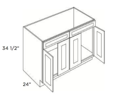 Cabinets, Cubitac Ridgefield Pastel Sink-Base-SB48