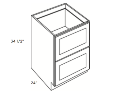 Cabinets, Cubitac Newport Cafe Two-Drawer-Base-DB30-2
