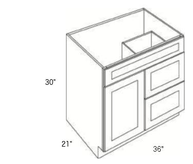 Cabinets, Cubitac Ridgefield Pastel, Cubitac Ridgefield Pastel Vanity-Combo-V3621D-30-