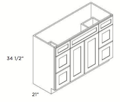 Cabinets, Cubitac Newport Cafe, Cubitac Newport Cafe Vanity-Combo-V4221DD-V4221-V4821DD-V4821-