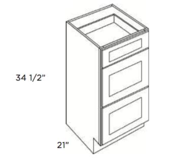 Cabinets, Cubitac Ridgefield Pastel, Cubitac Ridgefield Pastel Vanity-Drawer-Base-VDB1221-VDB1521-VDB1821-