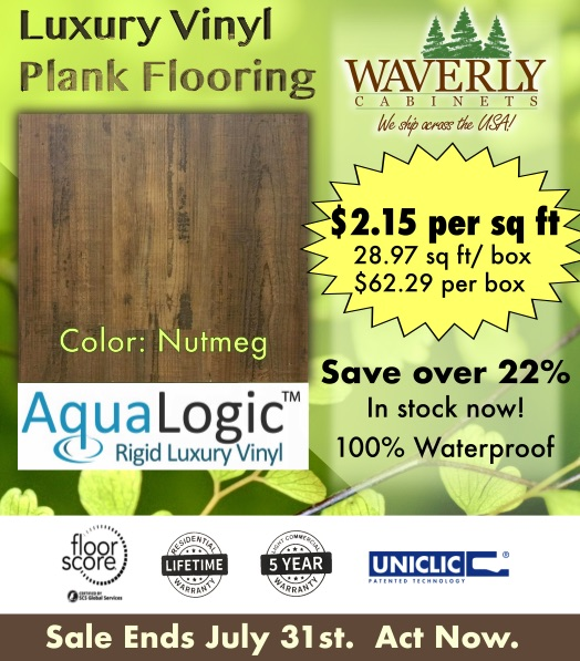 AquaLogic Plus Luxury Vinyl Plank Floor Nutmeg