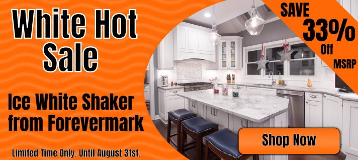 White Hot Savings 5% off Select White Cabinets with coupon code WHITEHOT