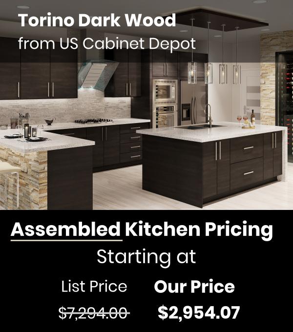 US Cabinet Depot Torino Dark Wood