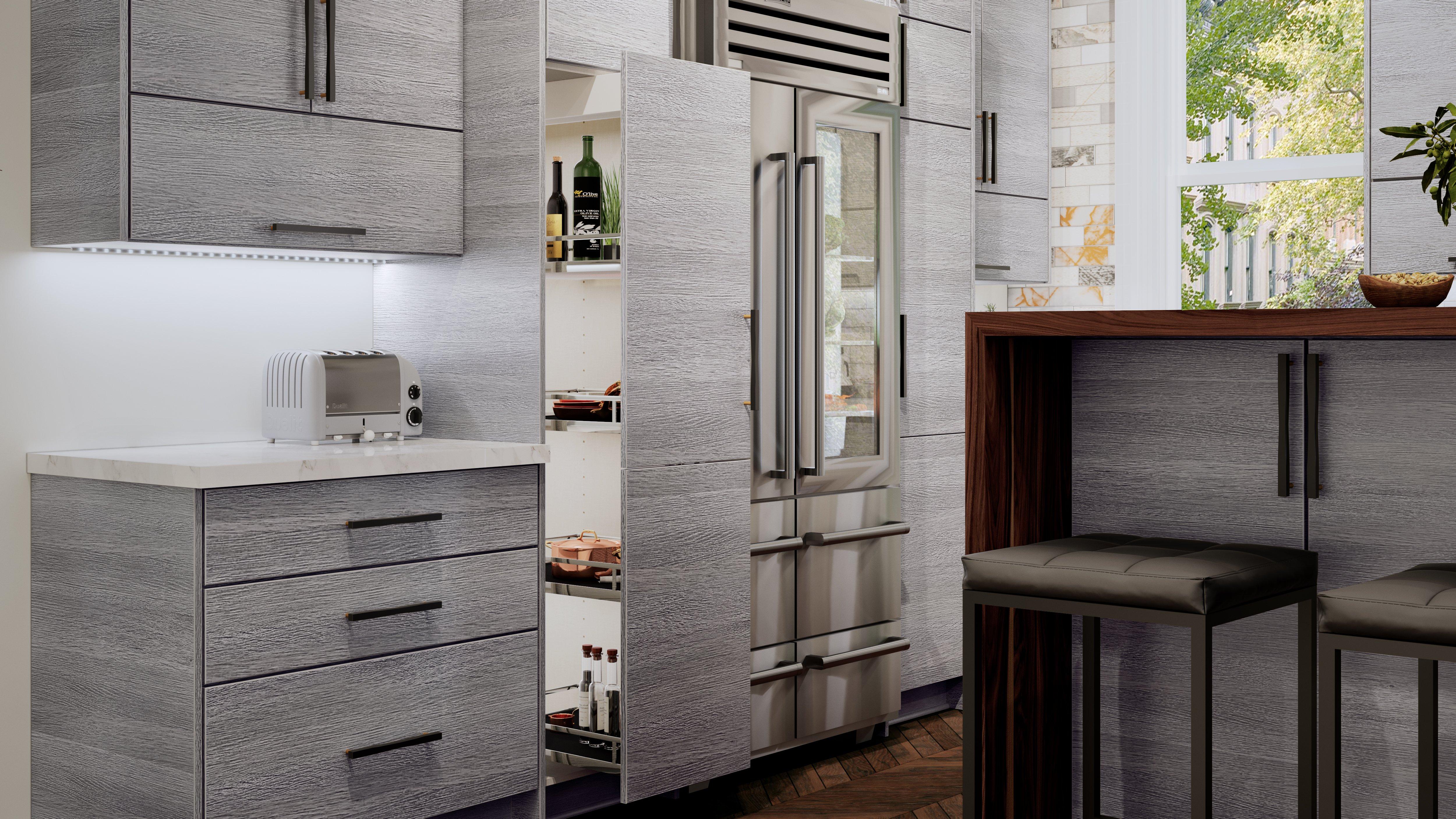 Us Cabinet Depot Torino Grey Wood Waverly Cabinets