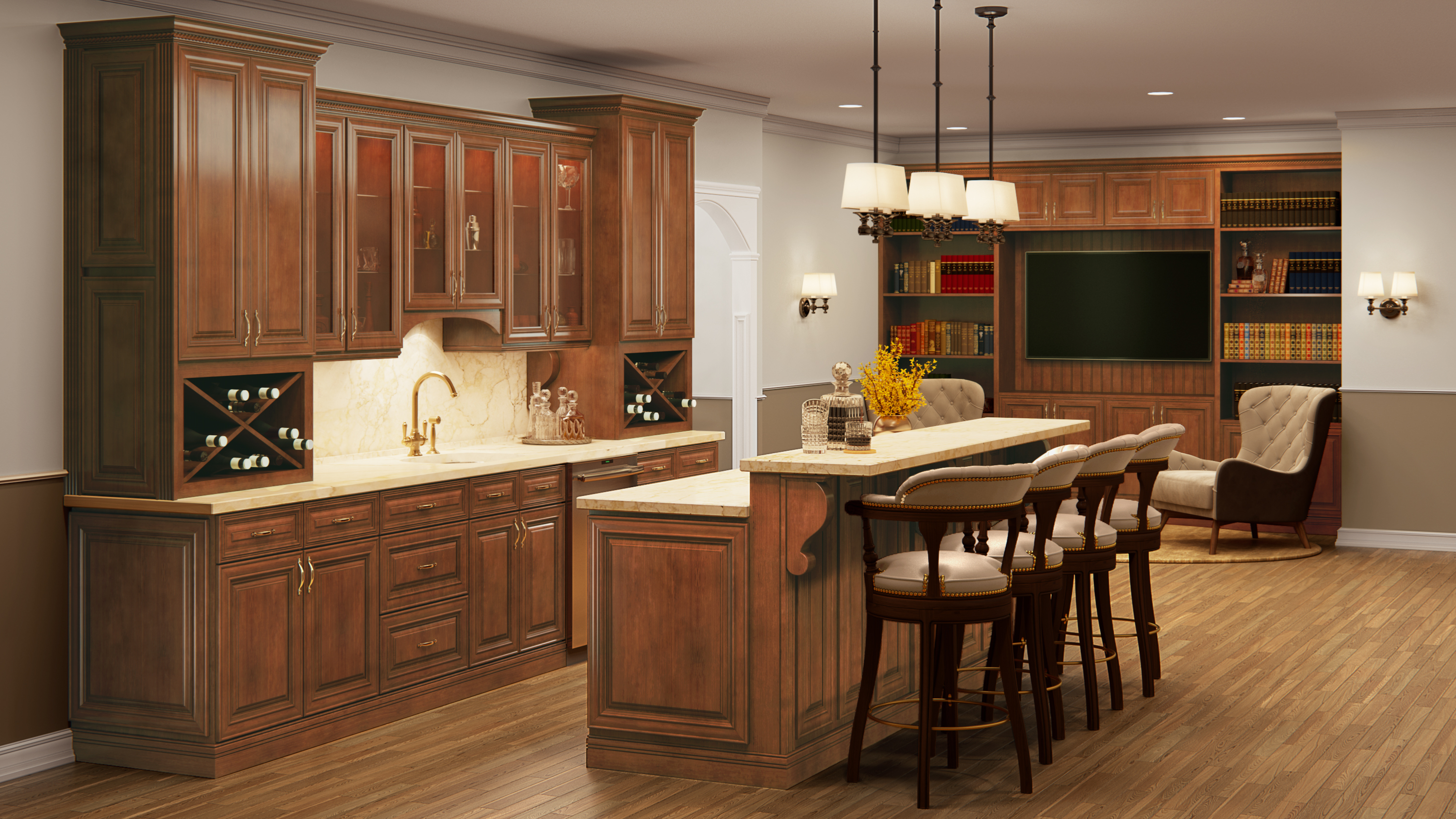 Us Cabinet Depot Casselberry Saddle Waverly Cabinets