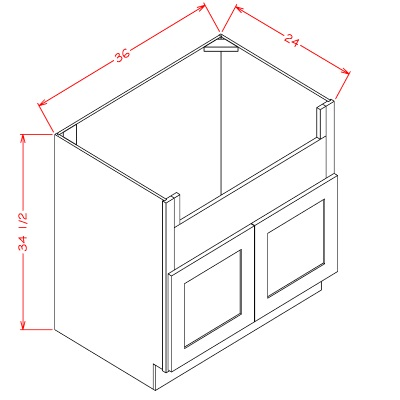 Cabinets, US Cabinet Depot Casselberry Saddle US Cabinet Depot Farm Sink Base Two Door Cabinet