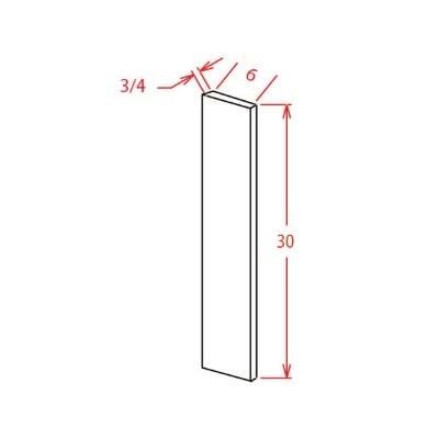 "Cabinets, US Cabinet Depot Sonoma White US Cabinet Depot Filler 6x30"""