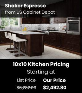US Cabinet Depot Shaker Espresso SE-10x10
