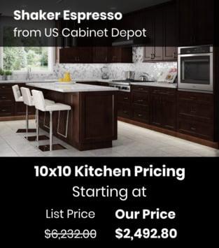 US Cabinet Depot Shaker Espresso
