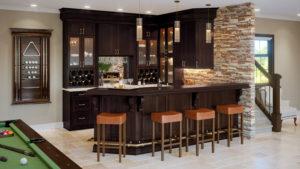 US Cabinet Depot Shaker Espresso SE Bar