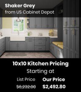 US Cabinet Depot Shaker Grey SG-10x10
