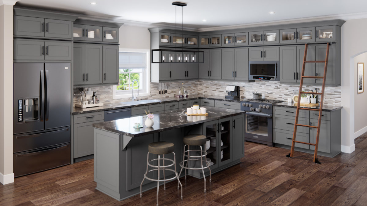 US Cabinet Depot Shaker Grey SG Kitchen