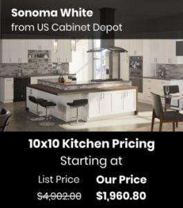 US Cabinet Depot Sonoma White SMW-10x10