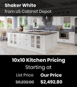 US Cabinet DepotShaker White SW SW-10x10