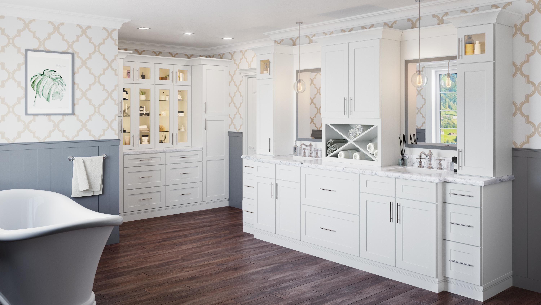 Us Cabinet Depot Shaker White Waverly Cabinets