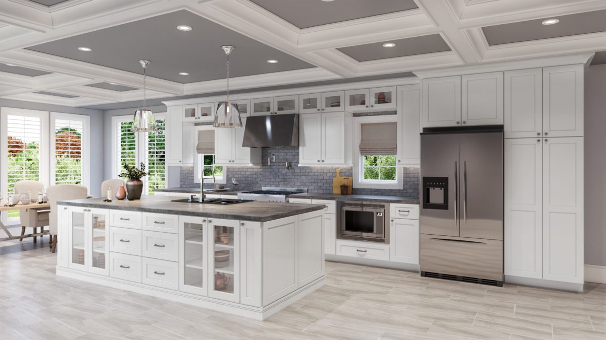 US Cabinet DepotShaker White SW Kitchen