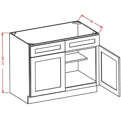 US Cabinet Depot Sink Base Two Door Cabinet