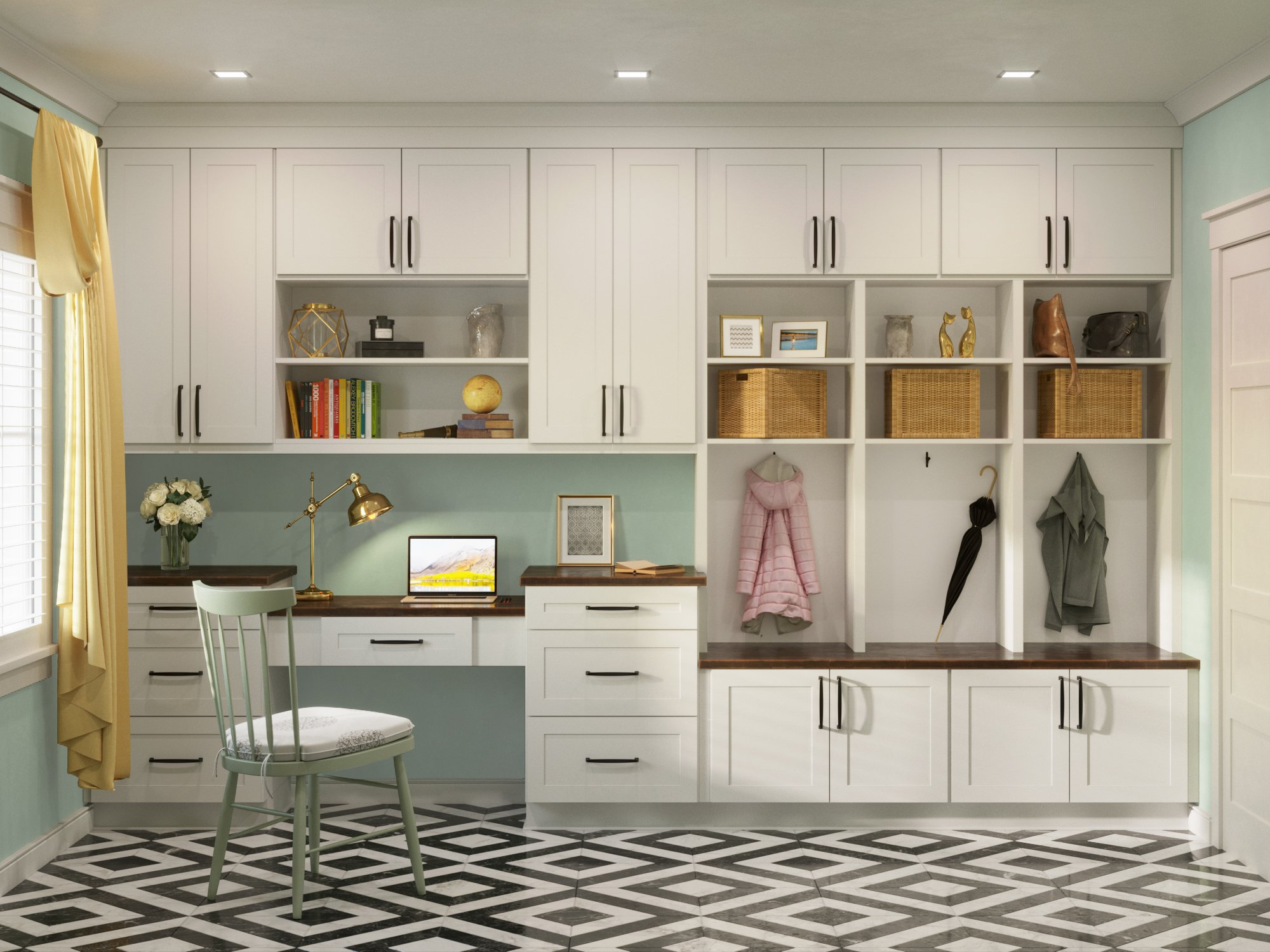 Us Cabinet Depot Sonoma White Mudroom Kitchen