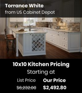 US Cabinet Depot Torrance White TW-10x10