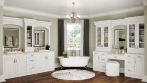 US Cabinet Depot Tahoe White TW Bathroom