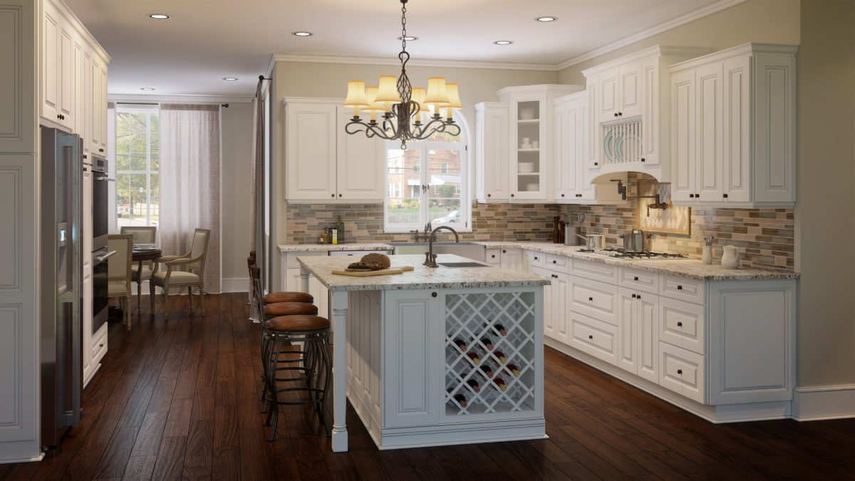 US Cabinet Depot Tahoe White Kitchen
