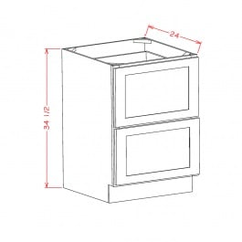 US Cabinet Depot Two Drawer Base Cabinet