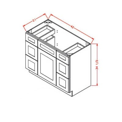 US Cabinet Depot Double Drawer Vanity Base