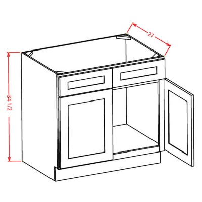 Cabinets, US Cabinet Depot Shaker Cinder US Cabinet Depot Sink Base with Double Doors Vanity