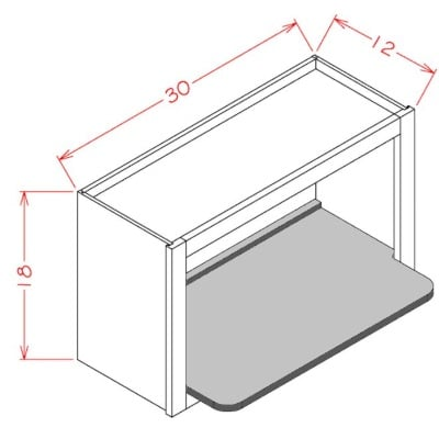 US Cabinet Depot Wall Microwave Shelf Kit