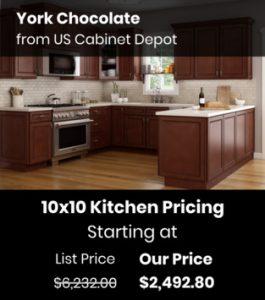 US Cabinet Depot York Chocolate YC-10x10