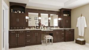 US Cabinet Depot York Chocolate Bathroom