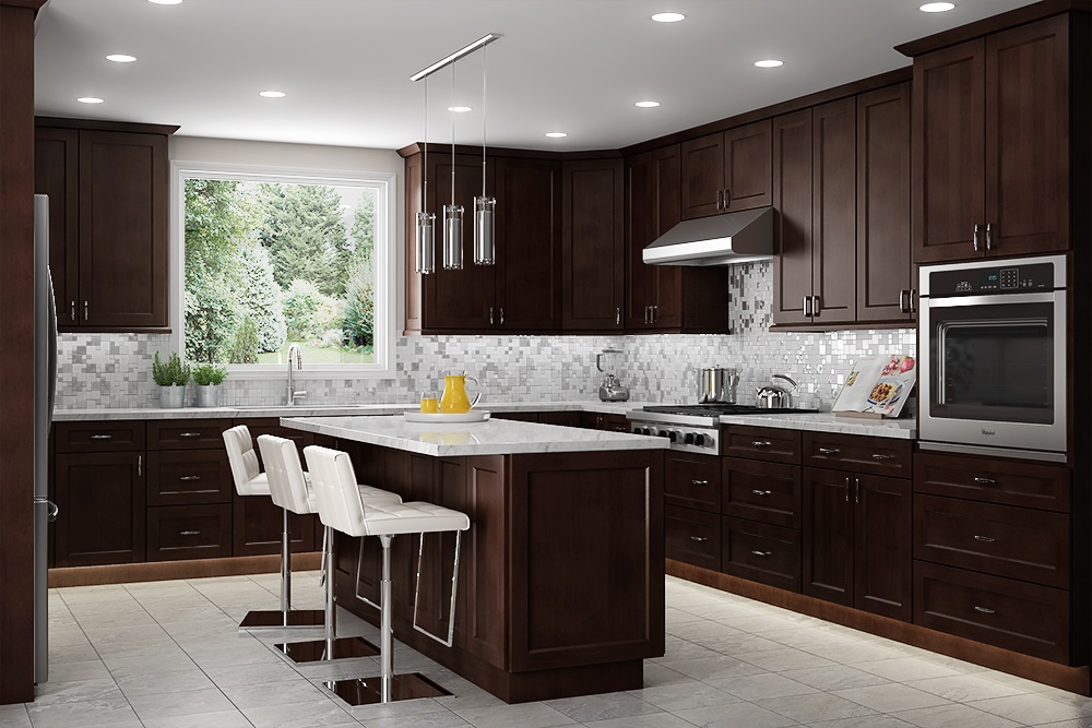 US Cabinet Depot Shaker Espresso SE Kitchen