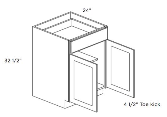 ADA Compliant Two Door Base Cabinet