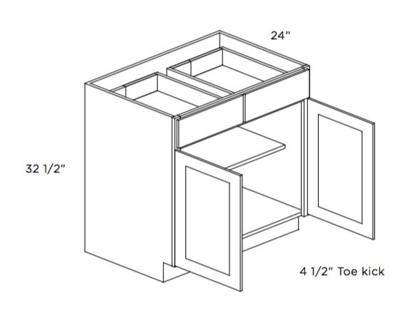 Cabinets, Cubitac Ridgewood Cubiccino ADA Compliant Two Door Base Cabinet