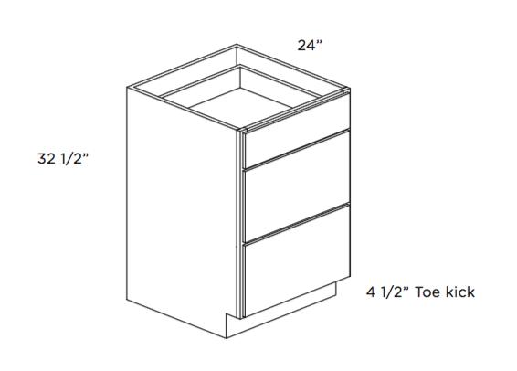 Cubitac ADA Compliant Drawer Base Vanity Cabinet